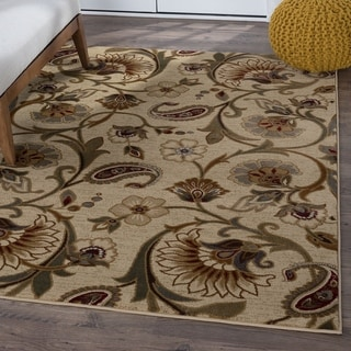 Link to Alise Rugs Infinity Transitional Floral Scatter Mat Rug Similar Items in Shabby Chic Rugs