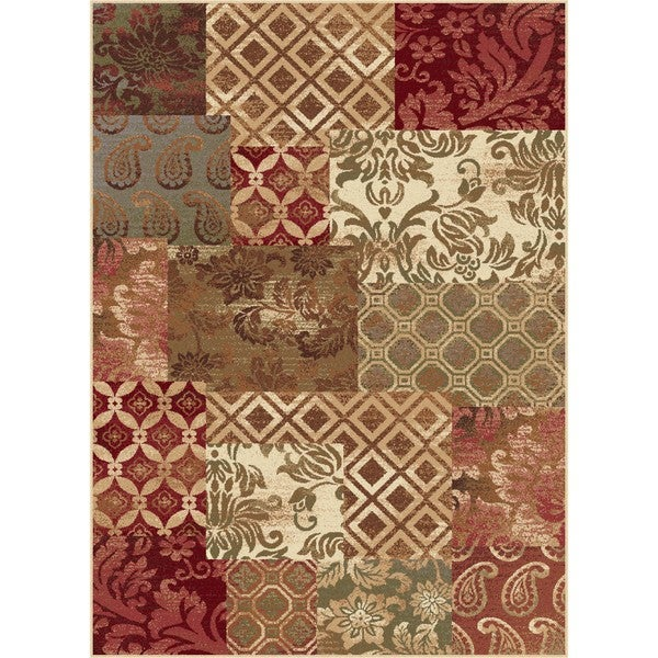 Infinity Collection Red Rug (5' 3 x 7' 3)