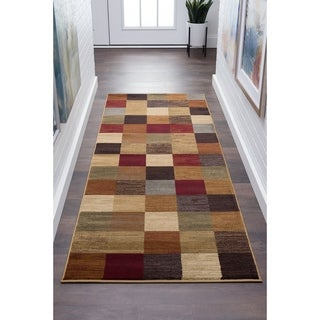 Alise Rugs Flora Contemporary Abstract Runner Rug - 2'7 x 7'3