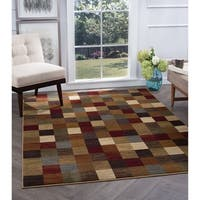Alise Rugs Flora Contemporary Abstract Area Rug - multi - 5'3 x 7'3