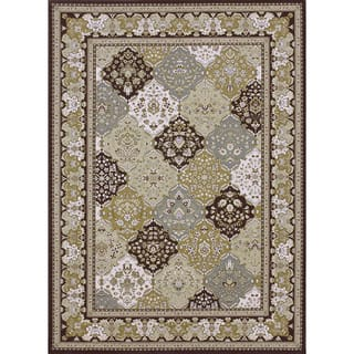 Primeval Multi/ Coffee Oriental Rug (11'2 x 14'6)|https://ak1.ostkcdn.com/images/products/6322624/P13948509.jpg?impolicy=medium