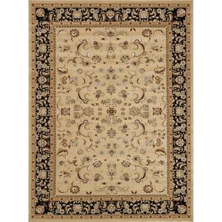 Primeval Beige/ Black Oriental Rug (11'2 x 14'6)
