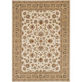 Primeval Ivory/ Beige Oriental Rug (11'2 x 14'6)
