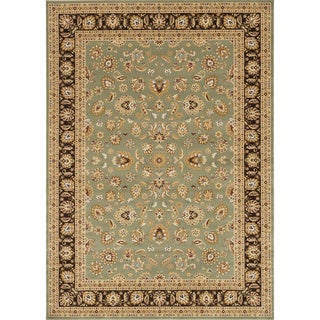 Primeval Sage/ Coffee Oriental Rug (11'2 x 14'6)