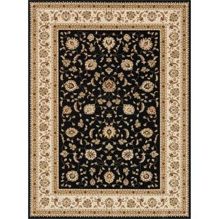 Primeval Black/ Ivory Oriental Rug (11'2 x 14'6)