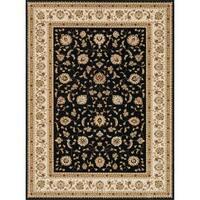 Primeval Black/ Ivory Oriental Rug - 11'2 x 14'6