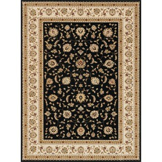Primeval Black/ Ivory Oriental Rug (11u00272 X ...