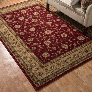 Primeval Red/ Beige Oriental Rug (11'2 x 14'6)