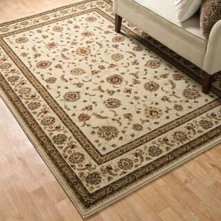 Primeval Ivory/ Brown Oriental Rug (11'2 x 14'6)