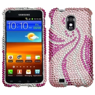 Insten Phoenix Tail Rhinestone Phone Case Cover for Samsung Galaxy S2 EPIC 4G Touch