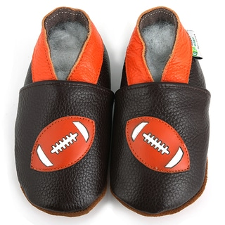 Football Soft Sole Leather Baby Shoes