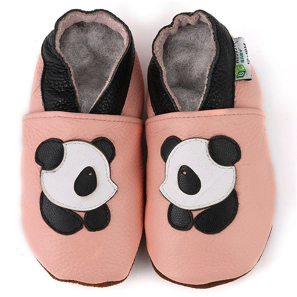 5a2d5c209c6110 Shop Panda Soft Sole Leather Baby Shoes - Free Shipping On Orders ...