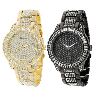 Geneva Platinum Rhinestone Base Metal Link Watch|https://ak1.ostkcdn.com/images/products/6322923/P13948739.jpg?_ostk_perf_=percv&impolicy=medium