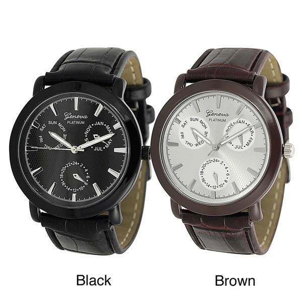 Geneva Platinum Men's Chronograph-style Watch