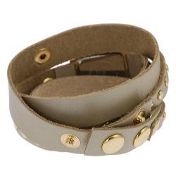 Geneva Platinum Women's Studded Traditional Wraparound Watch - Thumbnail 1