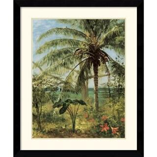 Albert Bierstadt 'Palm Tree, Nassau' Framed Art Print