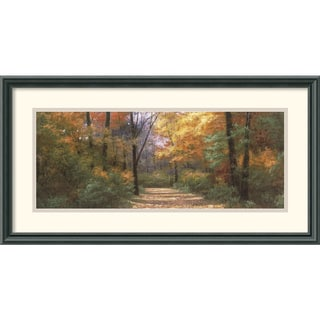 Framed Art Print 'Autumn Road Panel' by Diane Romanello 26 x 14-inch