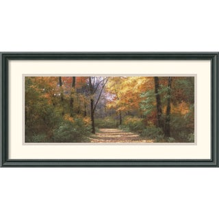 Diane Romanello 'Autumn Road Panel' Framed Art Print