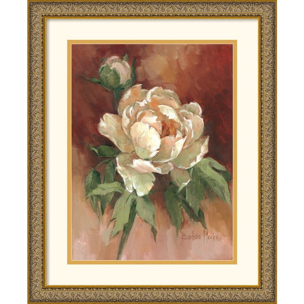 Shop Barbara Mock 'White Peonies II' Framed Art Print ...