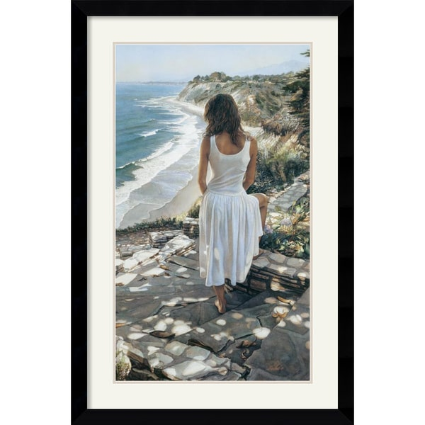 Steve Hanks 'Coastline' Framed Art Print