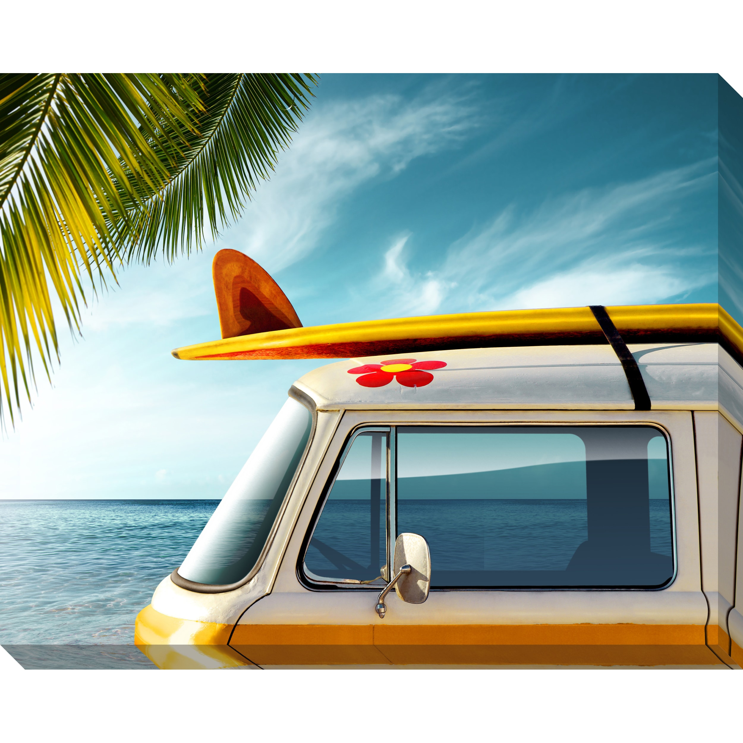 Gallery Direct Palm Van Oversized Gallery Wrapped Canvas