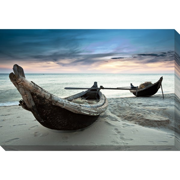 Contemporary Boats Oversized Gallery-Wrapped Canvas