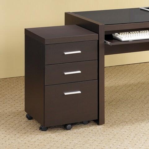 Porch & Den Ballard Bowdoin Cappuccino Wood File Cabinet