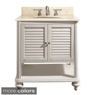 Avanity Tropica 30-inch Single Vanity in Antique White Finish with Sink and Top