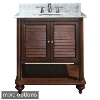 Avanity Tropica 30-inch Single Vanity in Antique Brown Finish with Sink and Top