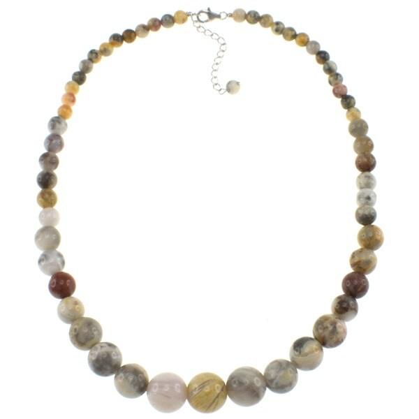 Pearlz Ocean Sterling Silver Ocean Jasper Journey Necklace