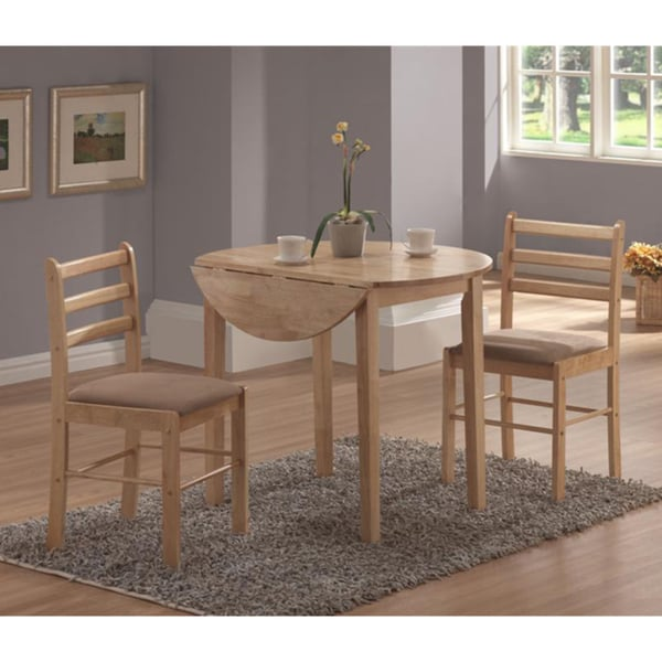 Captivating Natural 3 Piece Dinette Set