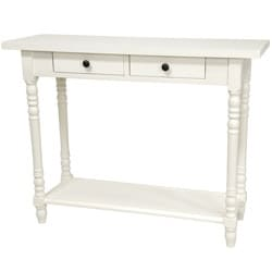 Handmade Wood 29-inch Classic 2-Drawer Console Table (China) - Thumbnail 1