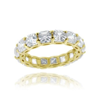 Icz Stonez Sterling Silver Asscher-cut Cubic Zirconia Eternity Ring (9.24ct TGW) (More options available)