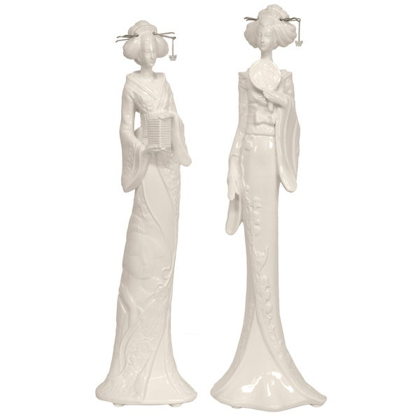Standing Geisha 19-inch Statue Set (China)