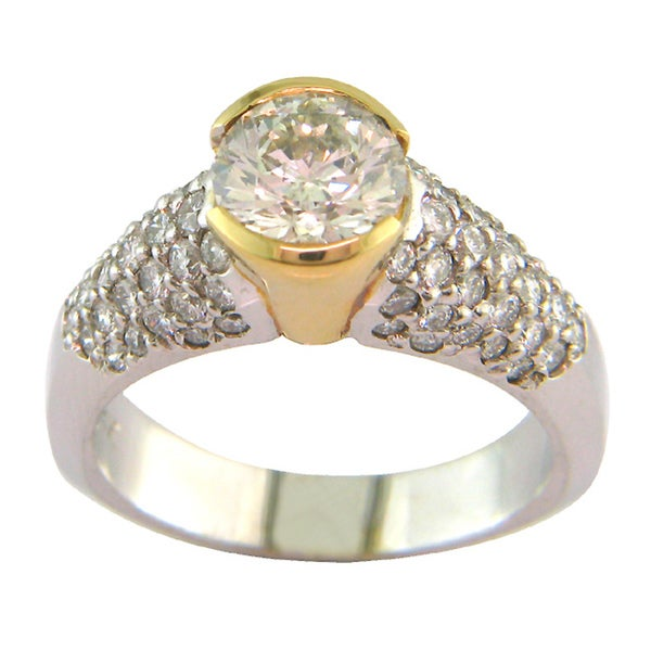 14k Gold Certified 2 1/3ct TDW Clarity-enhanced Diamond Ring