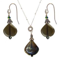 Misha Curtis Sterling Silver Smokey Quartz and Crystal Jewelry