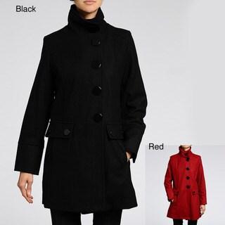 Women's Melton Wool-blend Short Coat