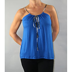 Institute Liberal Women's Blue Adjustable Strap Tank Top