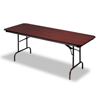Iceberg Premium Rectangular 60-inch Mahogany Folding Table with Melamine Top