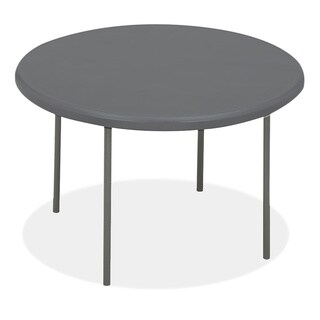 Iceberg IndestrucTables Too 1200 Series Charcoal Resin Folding Table