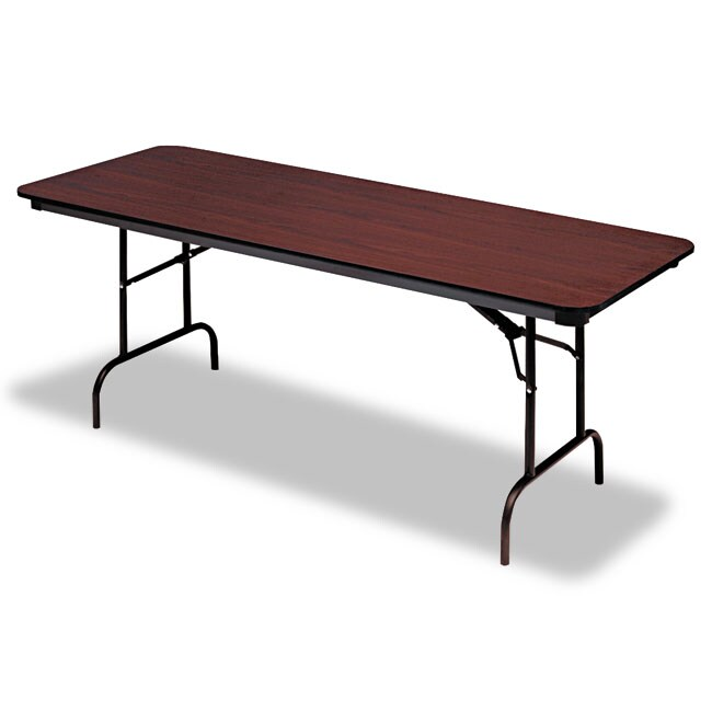 Iceberg Premium Rectangular 72-inch Melamine and Steel Folding Table