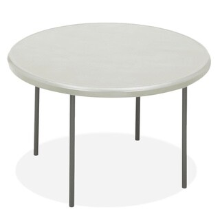 Iceberg IndestrucTables Platinum Resin Round Folding Table