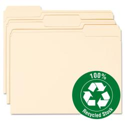 Smead Manilla One-ply Top Tab Recycled File Folders (Pack of 100)
