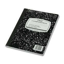 Mead 100 SHEETS WIDE RULE BLACK MARBLE COMPOSITION BOOK