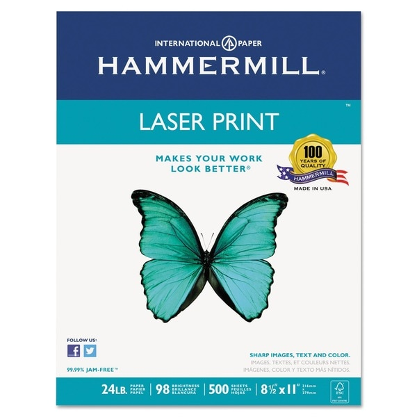 Hammermill 500 Sheet White Laser Print Office Paper