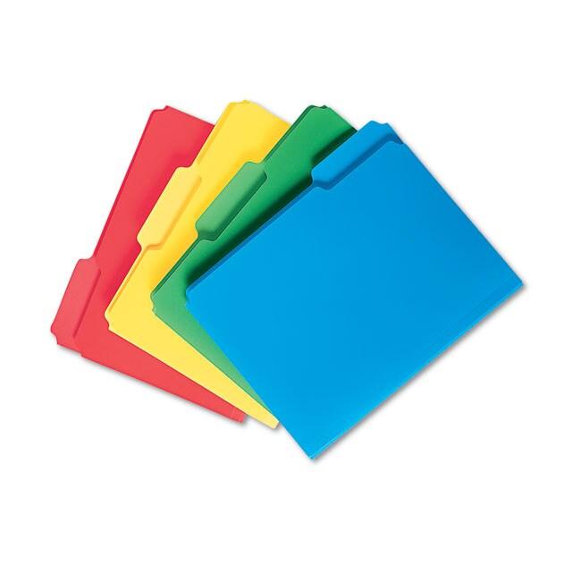 Smead Assorted 1/3 Cut Top Tab Waterproof Poly File Folders