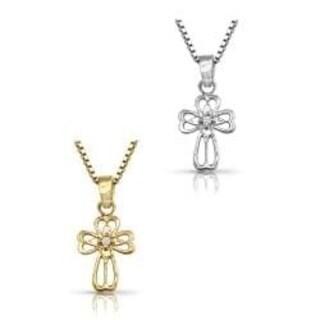 Auriya 10k Gold Diamond Cross Necklace