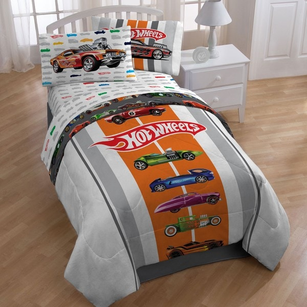 hot wheels full size 5 piece bed in a bag with sheet set free shipping today. Black Bedroom Furniture Sets. Home Design Ideas