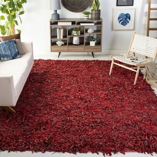 Safavieh Handmade Leather Shag Carlijn Modern Decorative Rug