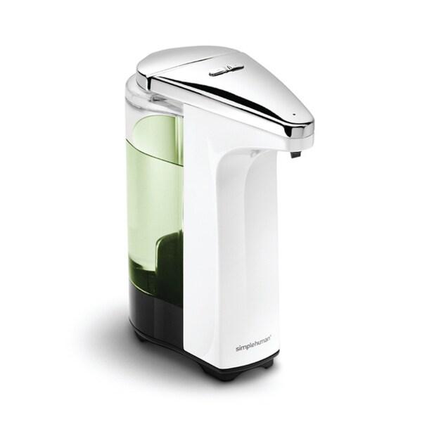 simplehuman 8-ounce White Compact Sensor Pump for Soap or Sanitizer